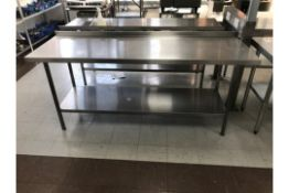 Stainless Steel Table With Upstand
