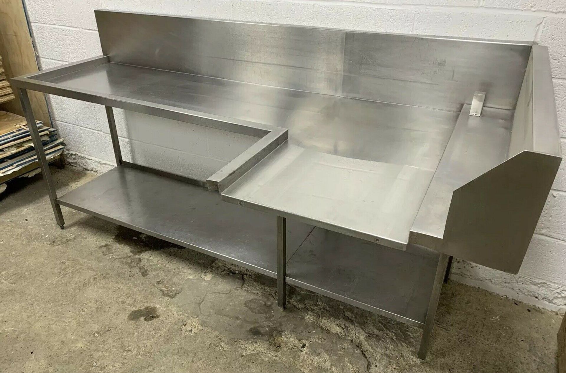 Lot 67 - Stainless Steel Dishwasher Outlet / Exit Table