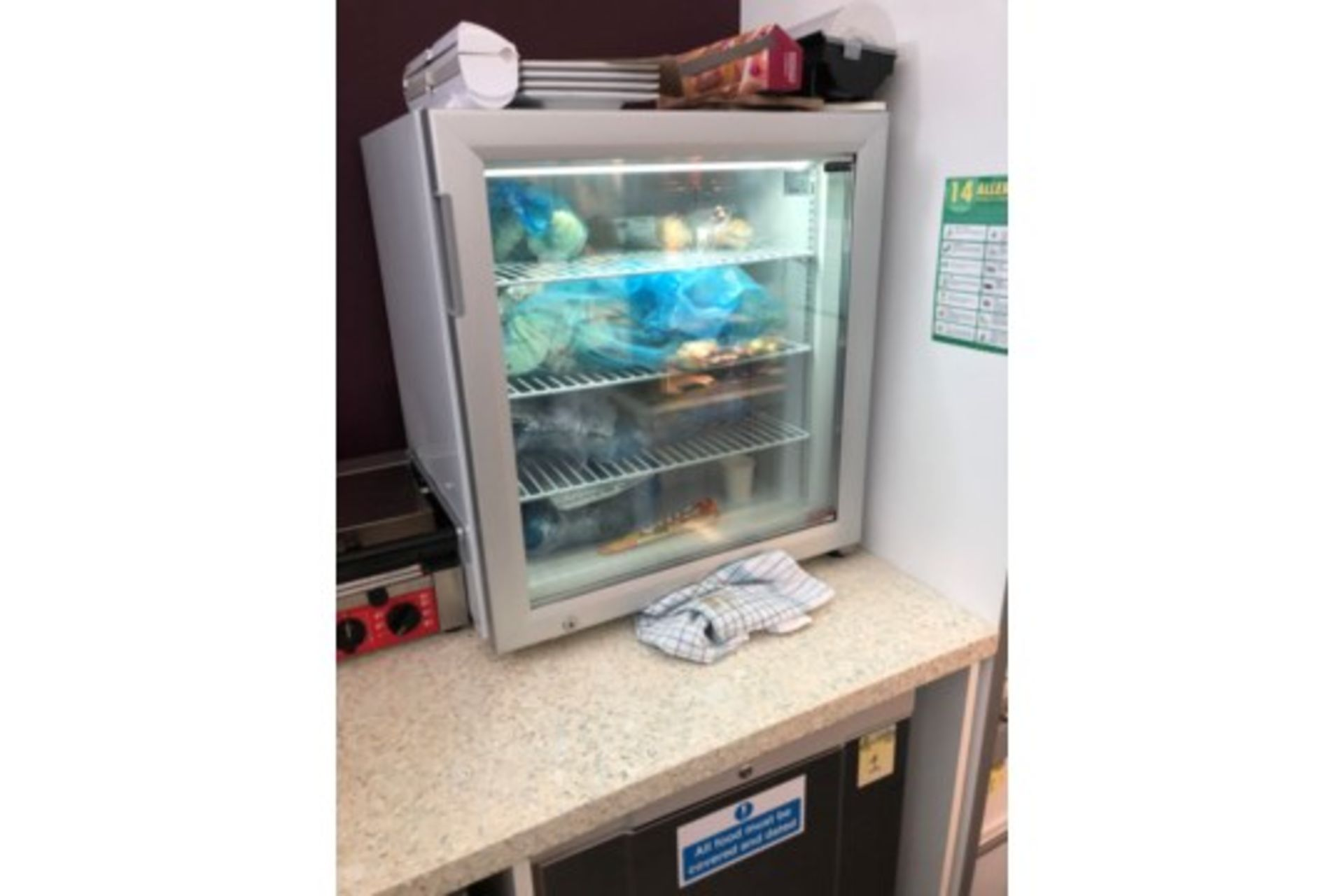 Lot 19 - Counter Top Glass Fronted Fridge ZERO RESERVE
