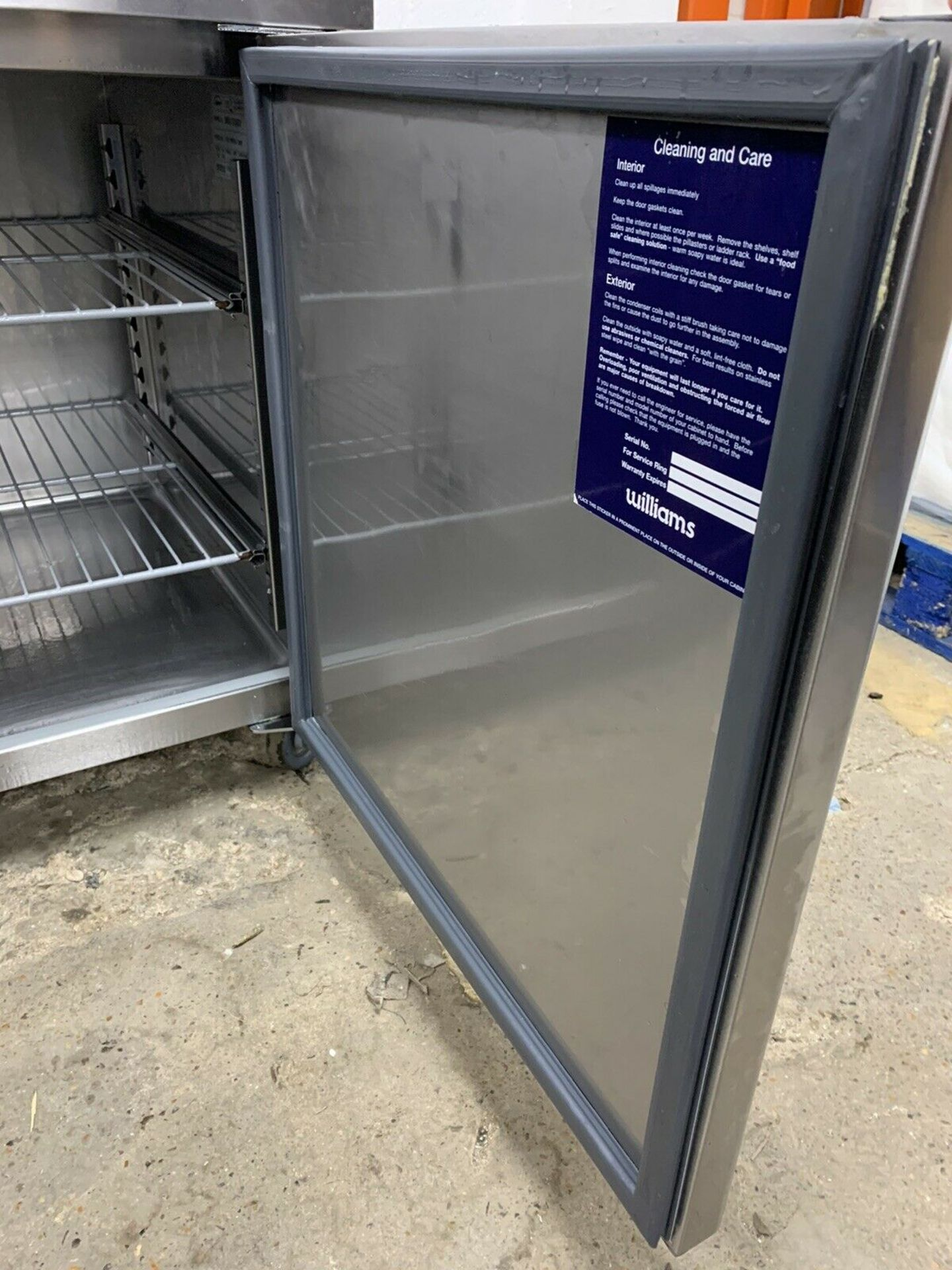 Lot 22 - Williams HEU2U 2 Door Prep Fridge
