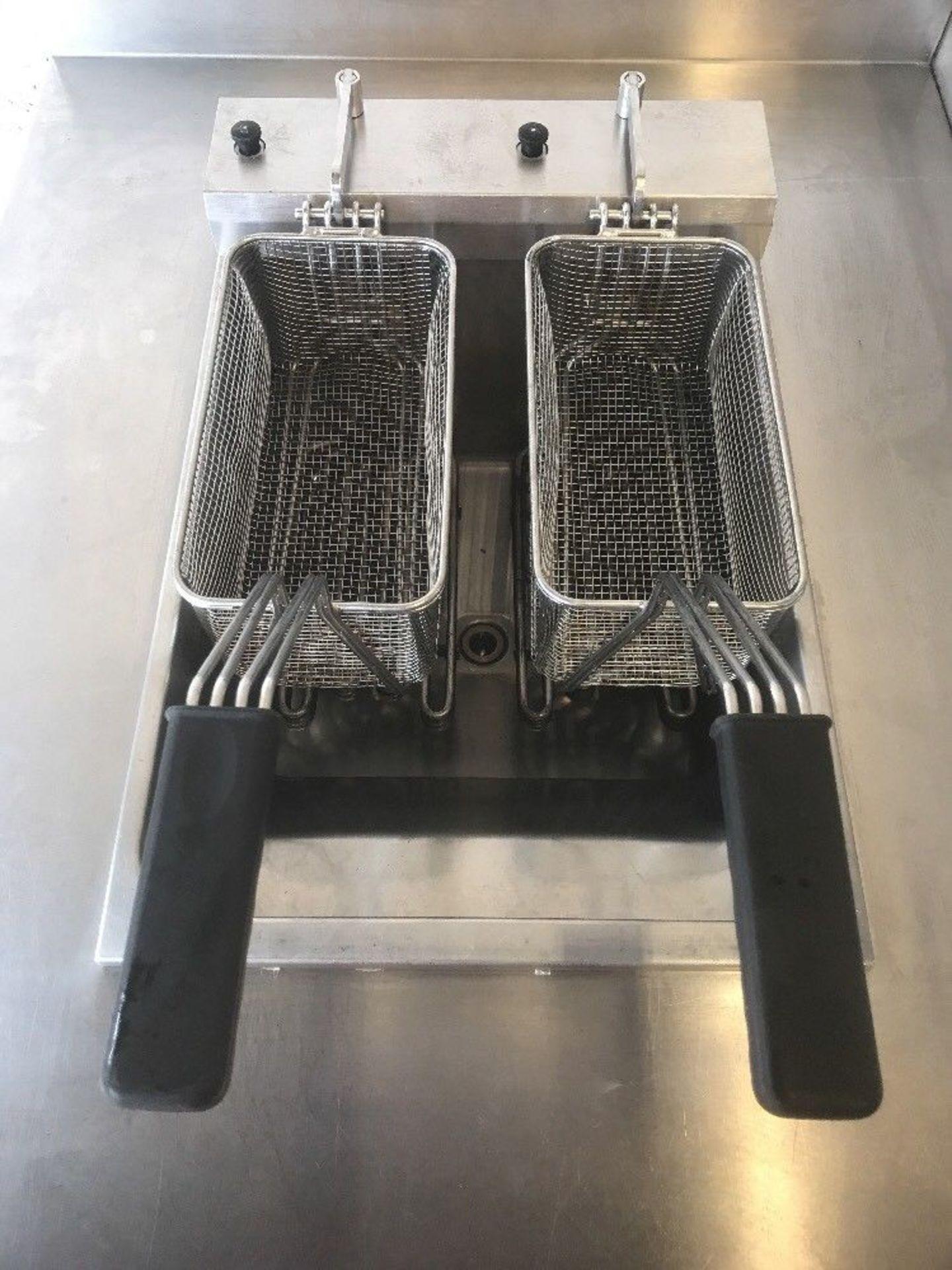 Lot 110 - Valentine EVO400 Double Basket Single Tank Fryer