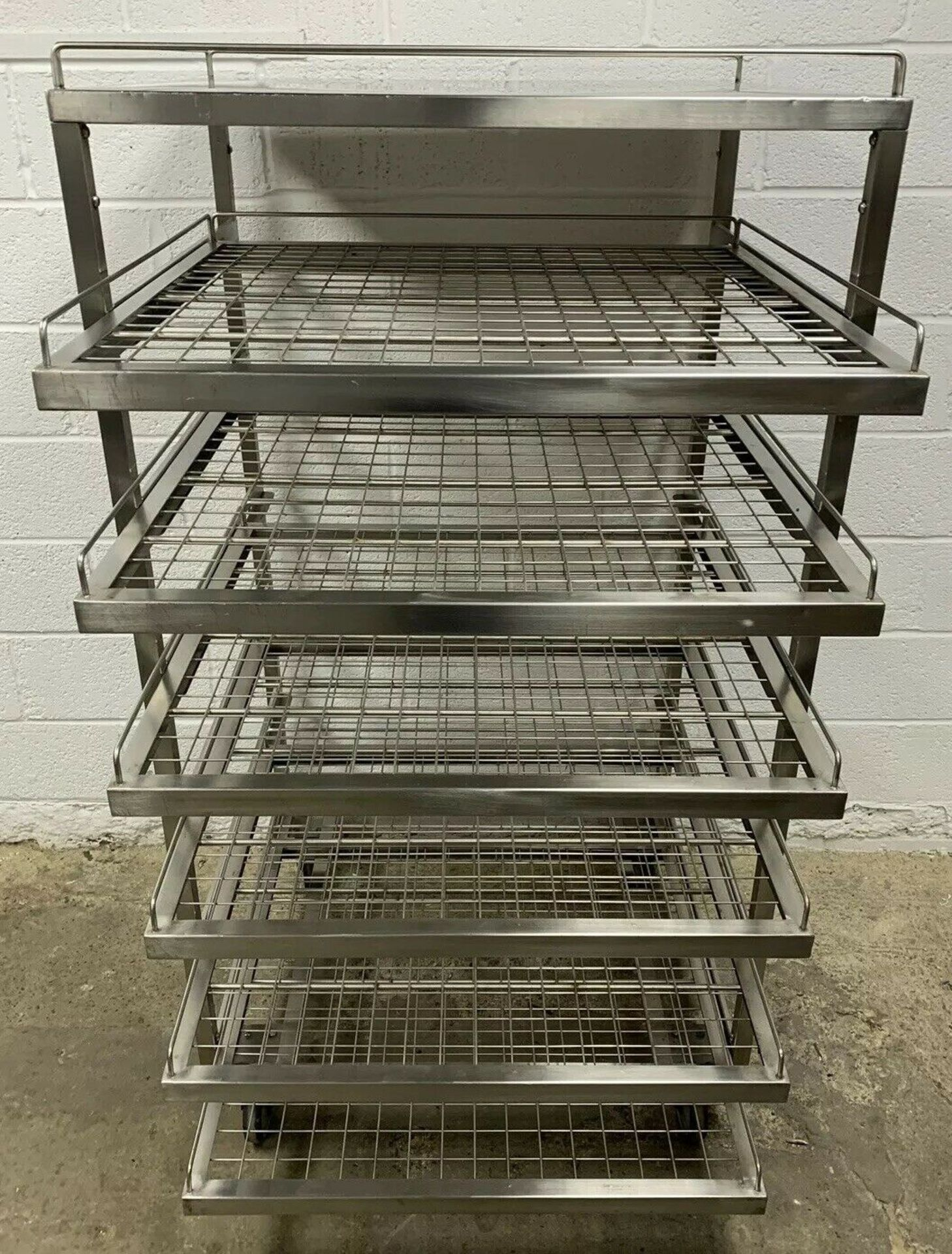 Lot 40 - Heavy Duty Stainless Steel Bakery Trolley