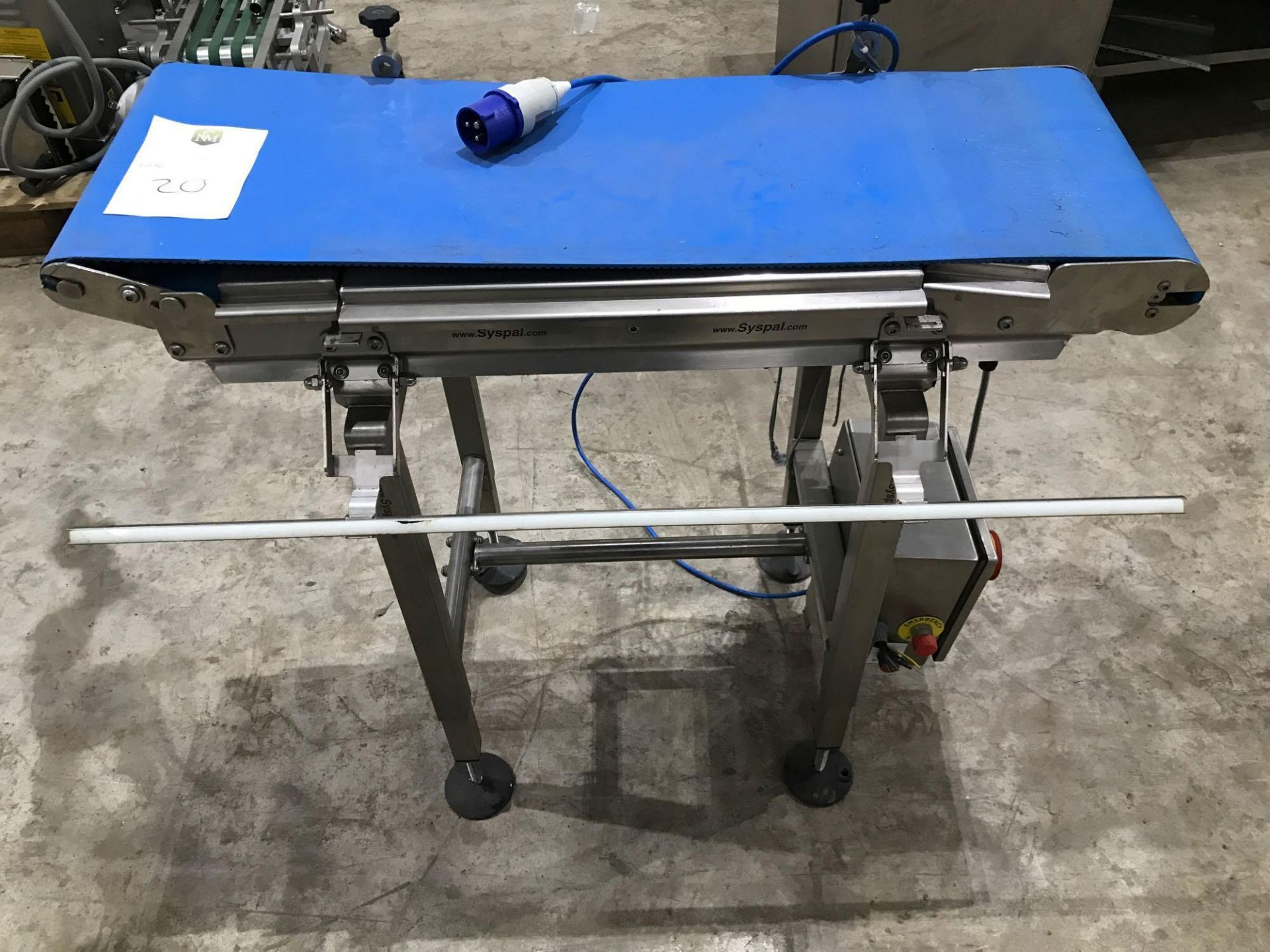 Lot 183 - Syspal small conveyor belt