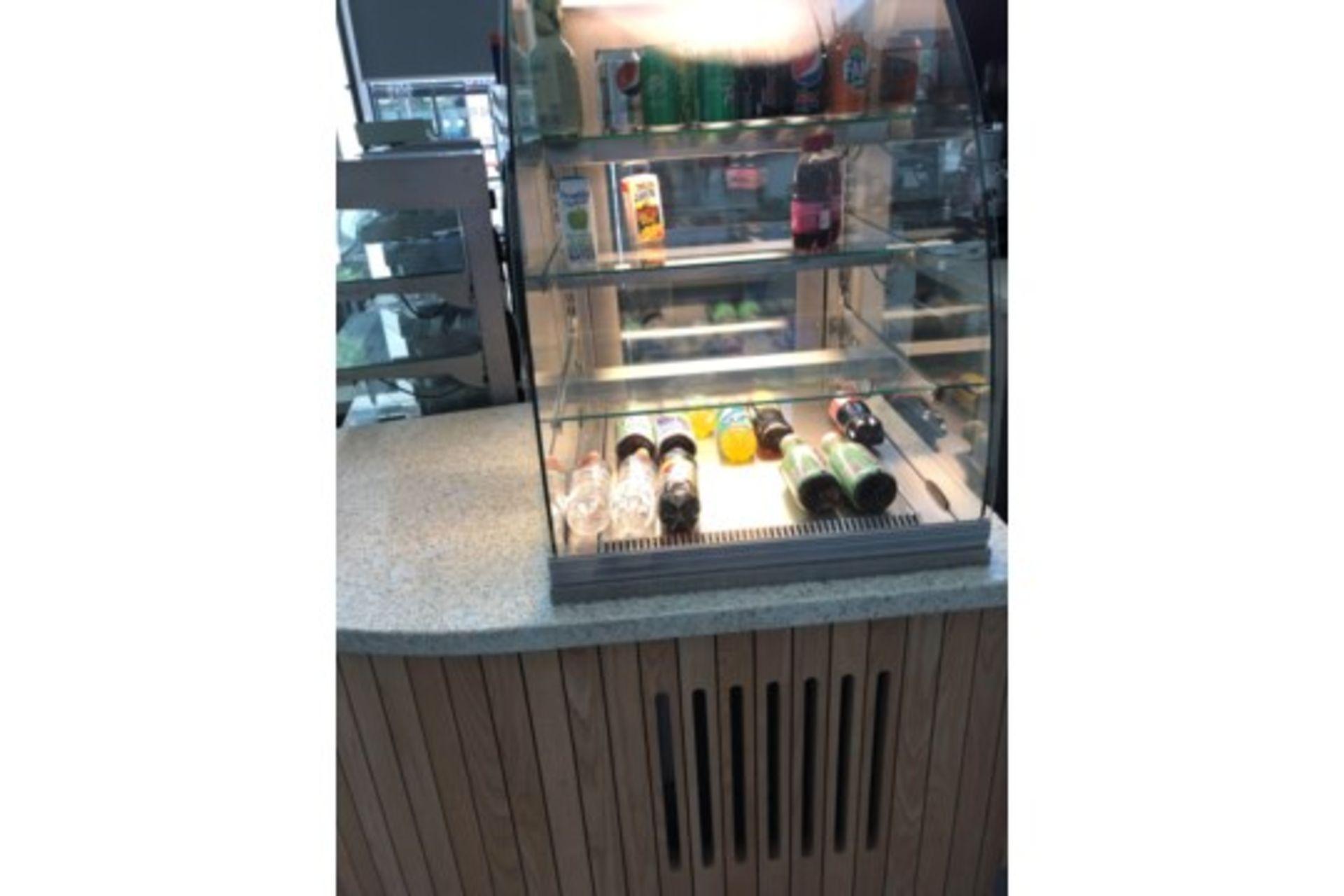 Lot 17 - Chilled Cabinet Bevelled Glass 4 Shelves ZERO RESERVE