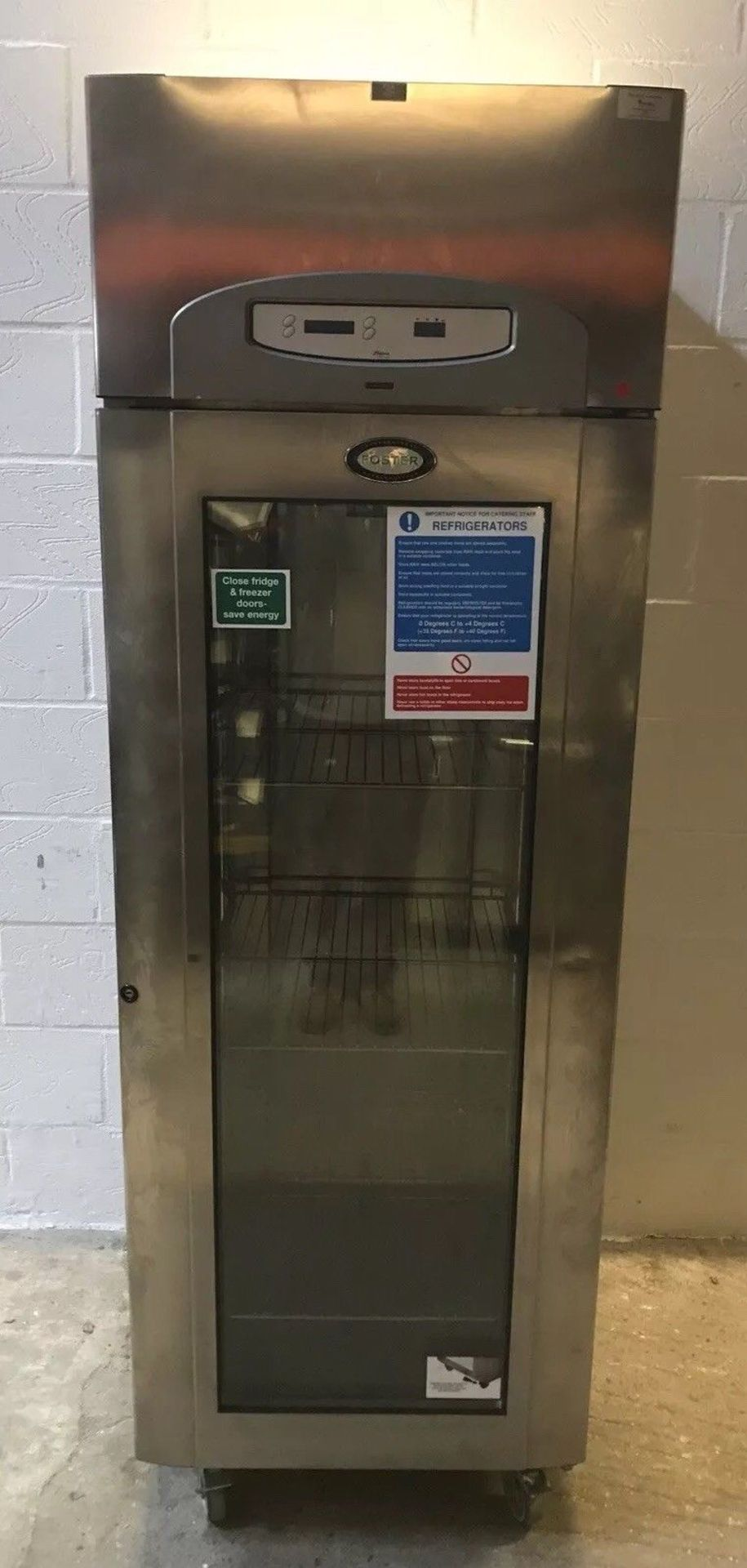 Lot 105 - Foster PREMG600H Single Door Fridge