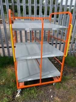 Warehouse Equipment - Variety of Trolleys, Picking Backpacks and Shelving Units