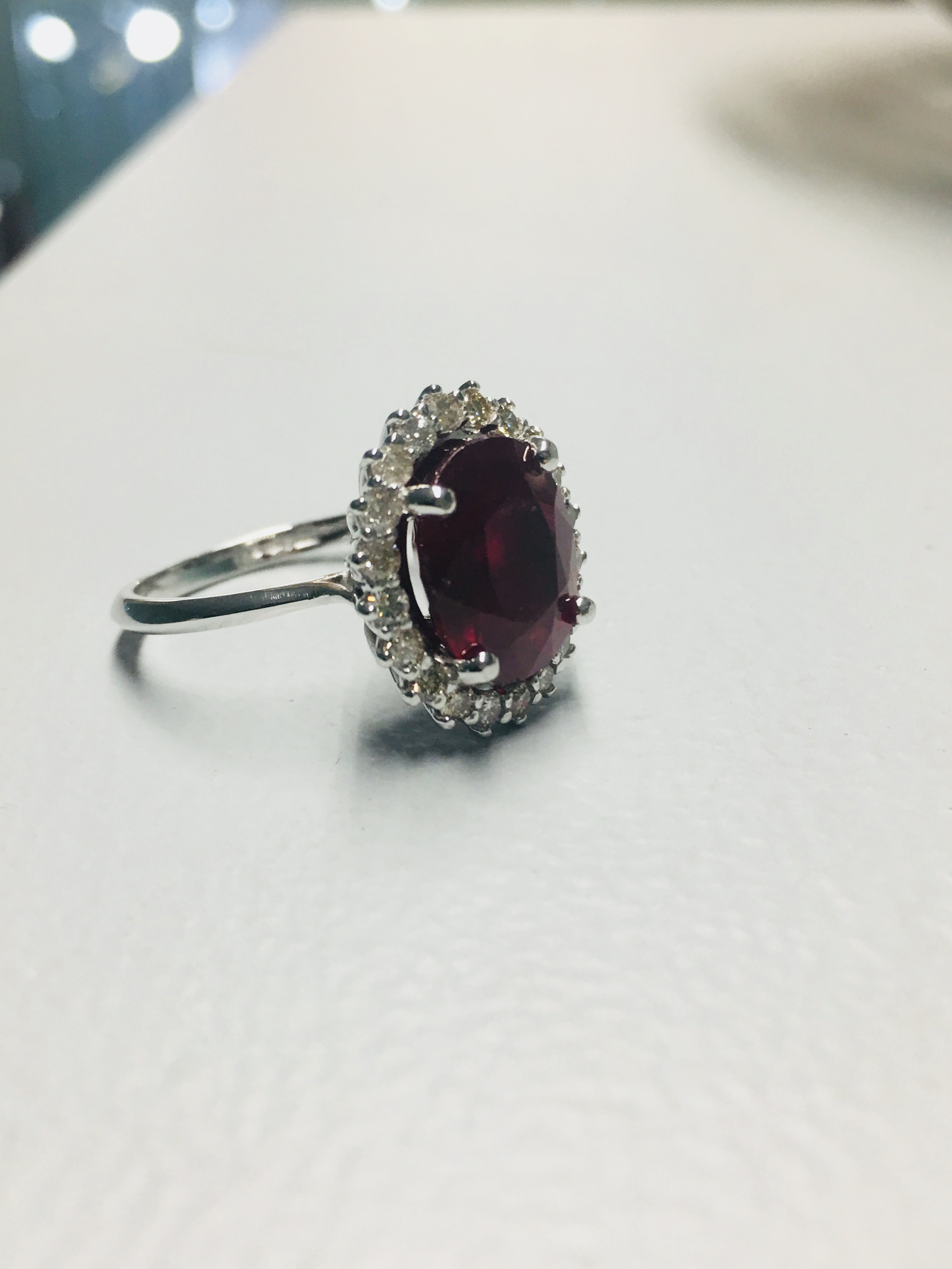 Lot 40 - 18ct Ruby Diamond cluster ring