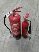 2 x fire extinguishers