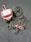 Single point chain hoist