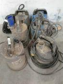 6 x submersible pumps 110 V