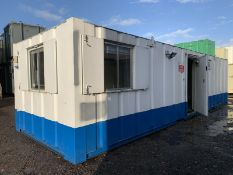 Office Site Cabin Canteen With Toilets Welfare Unit Mess Room 32ft
