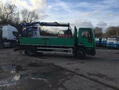 Iveco Eurocargo 180 E25 Drop side With PM Series 10 Crane Kinshofer Brick Grab