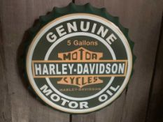 2 X HARLEY DAVIDSON TIN SIGN