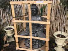 MASSIVE BUDDHA CRATED IN SILVER