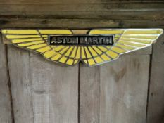 CAST IRON ASTON MARTIN SIGN