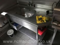 Sink unit and franke wash hand basin