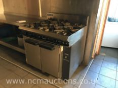 Blue seal oven and 6x hob burner
