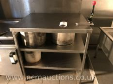 Stainless steel counter with under shelving