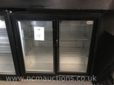 Cater-cool double display fridge