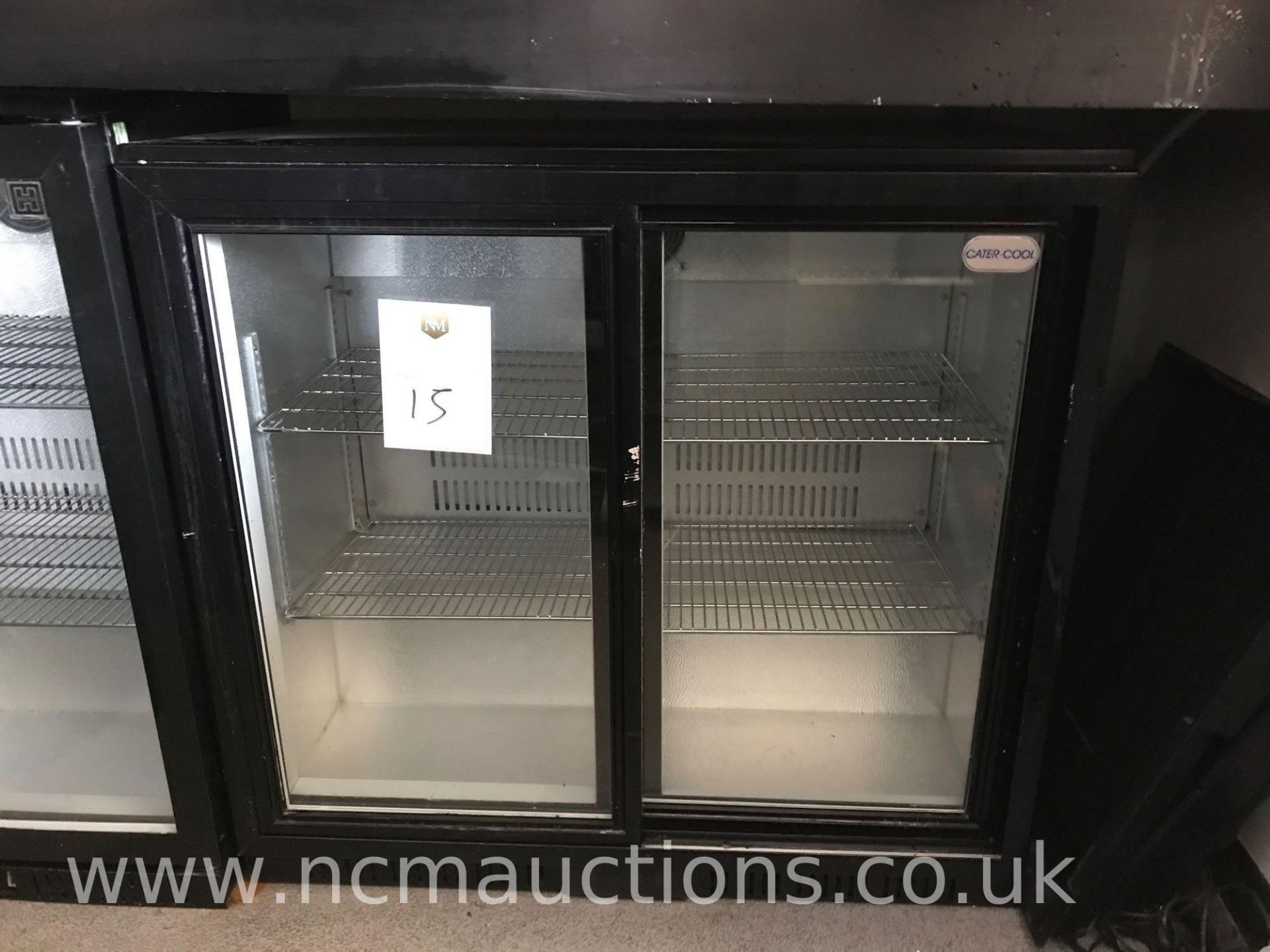 Lot 15 - Cater-cool double display fridge
