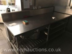 Stainless steel counter and 3x shelves