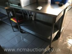 Stainless steel counter and shelf