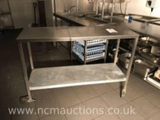 Stainless steel counter (damaged)