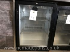 Halcyon glass display fridge