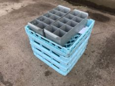 6x plastic glass drying stands