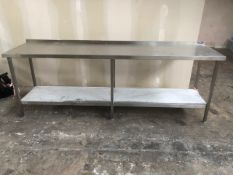 Long Stainless Steel Wall Bench