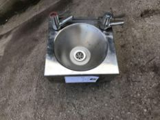 Basix stainless steel wash hand basin