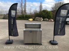 Stainless Steel Cupboard With Work Bench On Castor Wheels