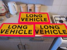 3 x Long Vehicle Truck Signs
