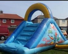 Up And Over Inflatable Slide Bouncy Castle