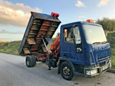 Iveco Tipper With Hiab Crane