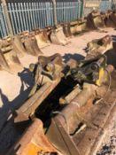 13/14 Tonne Excavator Buckets, Tines, Breaker, Augers Job Lot
