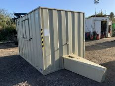 Groundhog GP360 Anti Vandal Steel Towable Welfare Unit Complete With Generator
