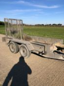 Indespension Twin Axle Plant Mini Digger Trailer
