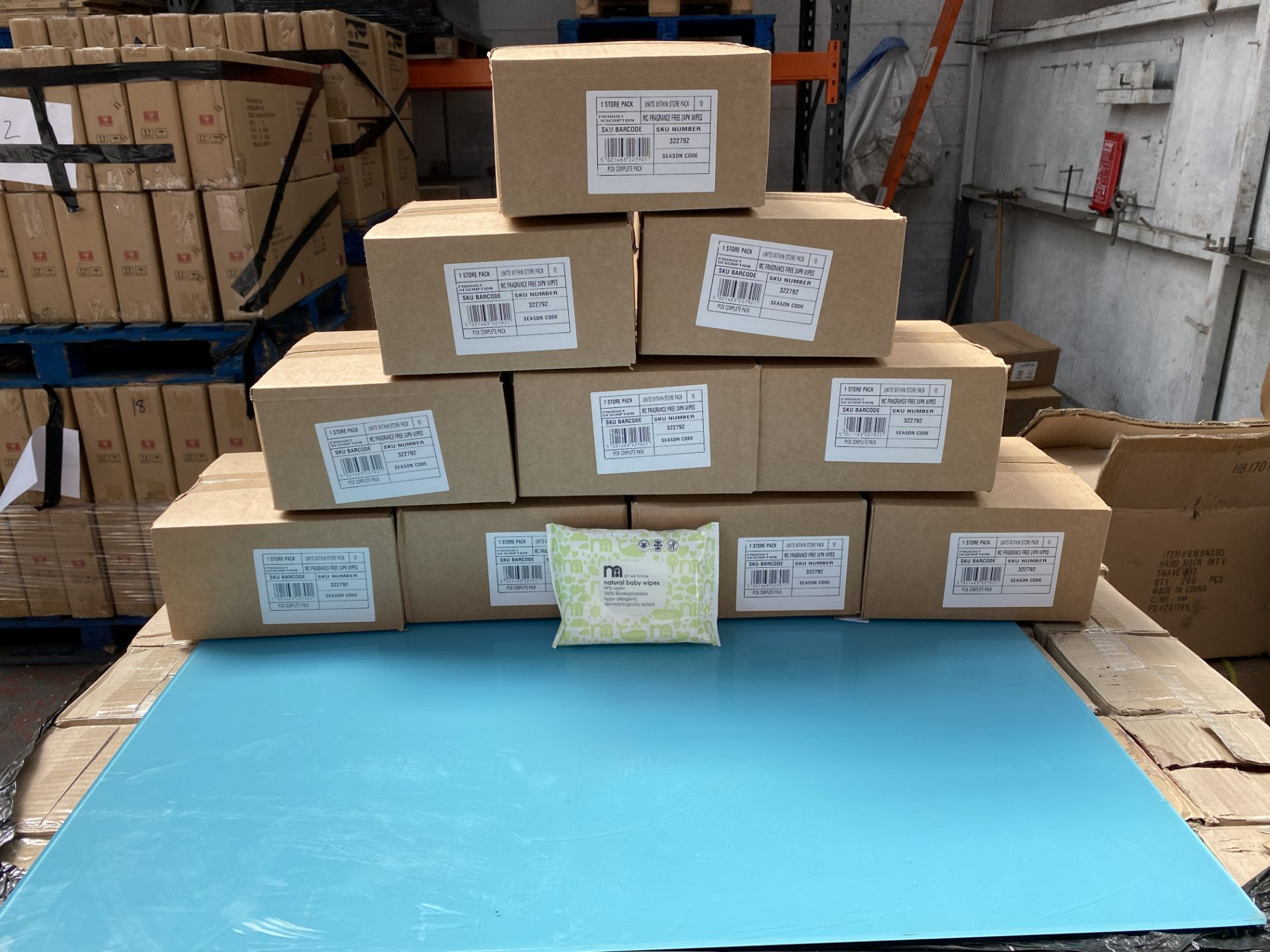 Lot 17 - MOTHERCARE baby wipes, natural water wipes. 100 x 24 pack. RRP £199 PLUS