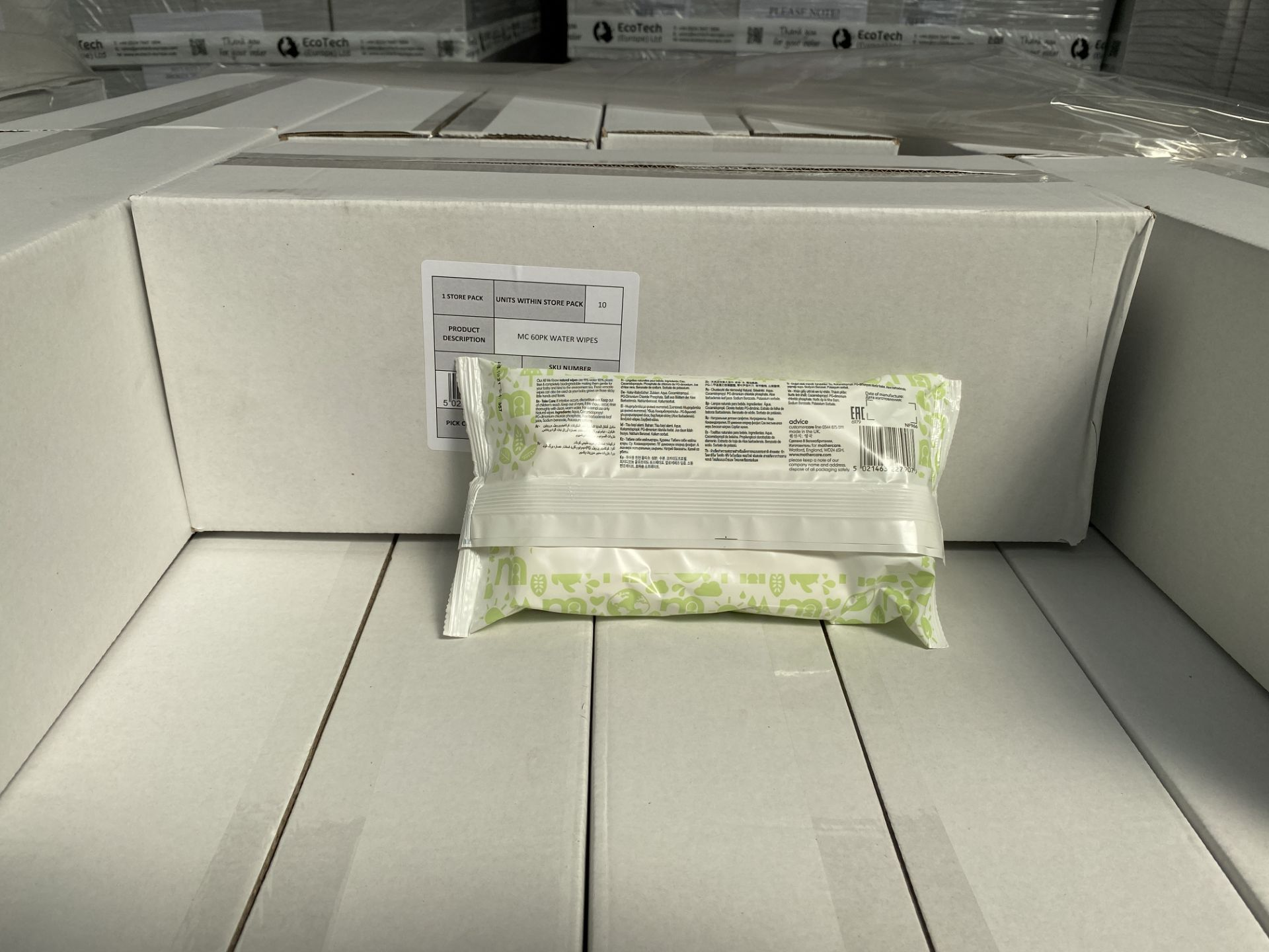 Lot 50 - MOTHERCARE natural baby wipes. 100 x 60 pack. RRP £299 PLUS