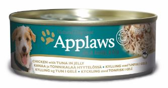 Applaws Dog Tin 12x(6x156g) Chicken with tuna in Jelly. 72 tins total. Full RRP £132 plus.
