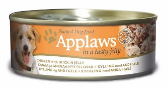Applaws Dog Tin 12x(6x156g) Chicken with Duck in Jelly. 72 tins total. Full RRP £132 plus.