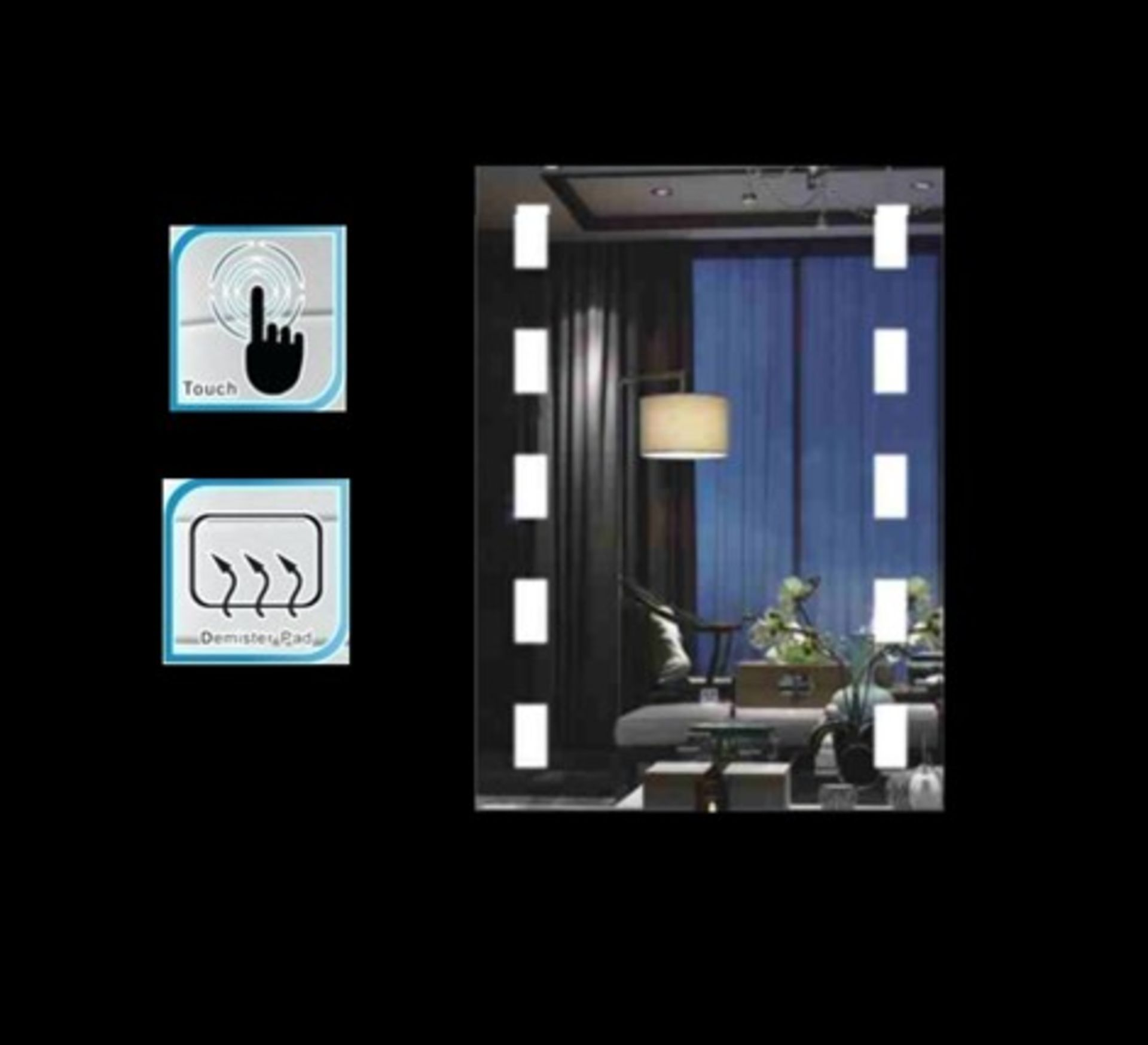 Lot 45 - x 5 Bathroom Illuminated LED Mirrors