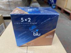 180 x MY BLU E-Liquid Roast Blend Tobacco 0mg (3 boxes x 60 per box)