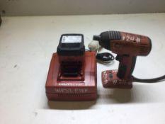 Hilti impact gun model SIW144–A 14.4volts