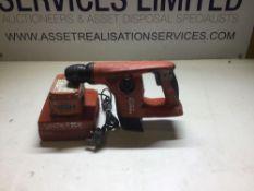 Hilti te4-A22 sds hammer drill 22 volt