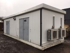 Thurston Portable Steel Building Air Conditioned Storage Unit Office