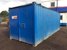 Anti Vandal Steel Portable Office / Storage Container. 20ft x 8ft