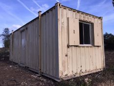 Anti Vandal Steel Portable Site Office Canteen. 24ft x 9ft on Jack legs