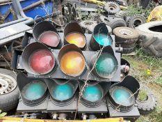 Traffic Light Head 12 Volt Bulbs